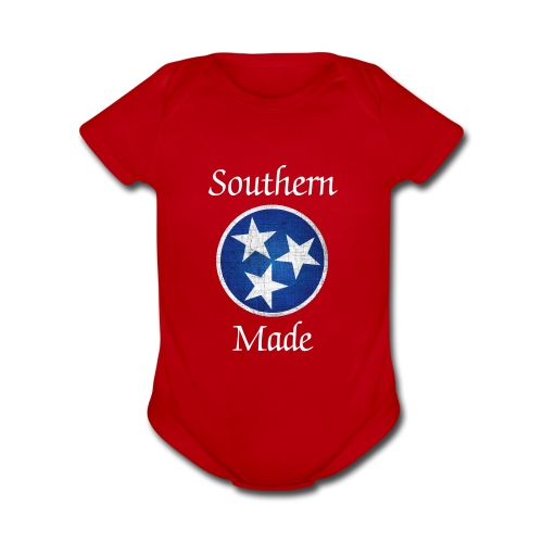 Tennessee Tri-Star    - Organic Short Sleeve Baby Bodysuit