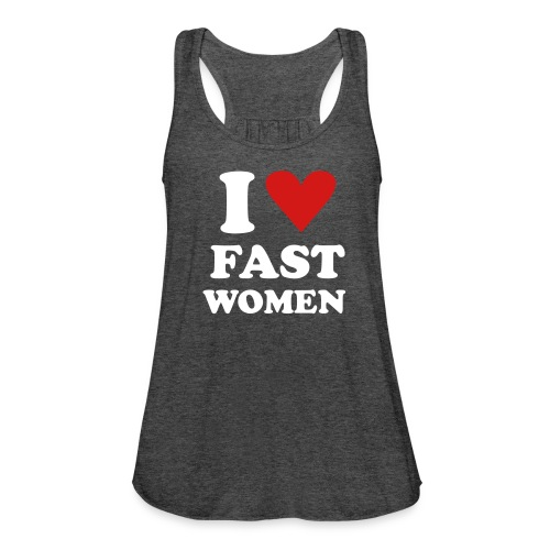 Heart Fast Women / Tank / Women - Women's Flowy Tank Top by Bella