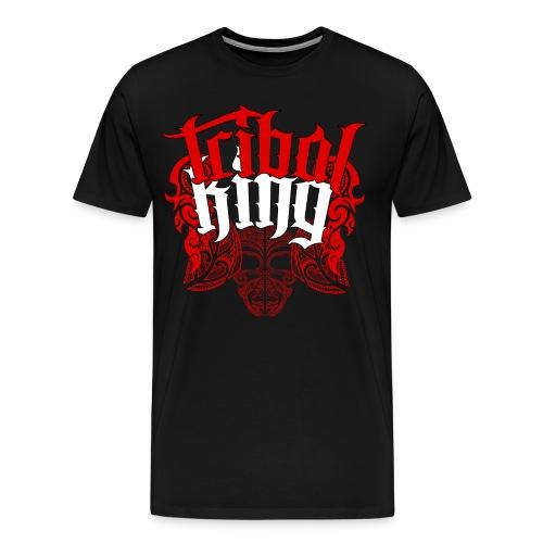 Tribal King Floral Design - Men's Premium T-Shirt