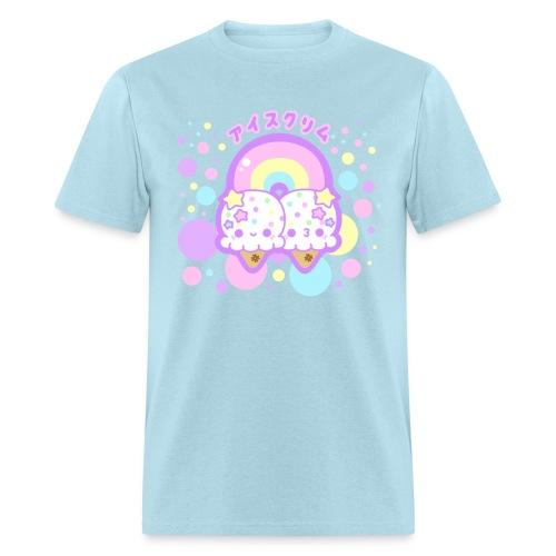 Rainbow Ice Cream Clouds  - Men's T-Shirt