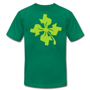 Four Leaf Texas - Men's T-Shirt by American Apparel