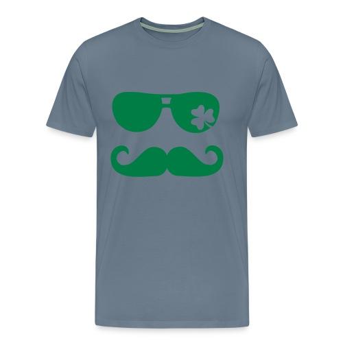 Moustache Shamrock - Men's Premium T-Shirt