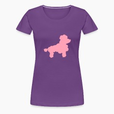 Poodle silhouette Women's T-Shirts