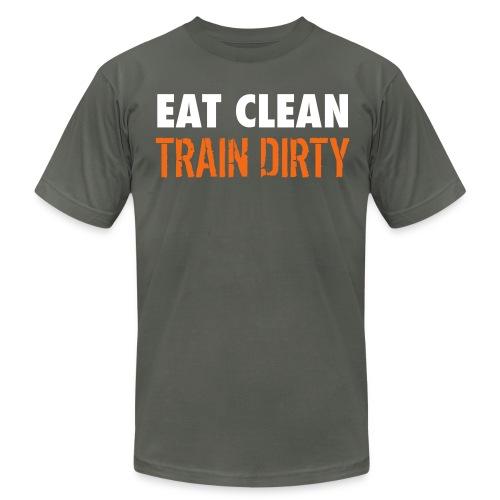 Eat Clean Train Dirty - Men's Fine Jersey T-Shirt