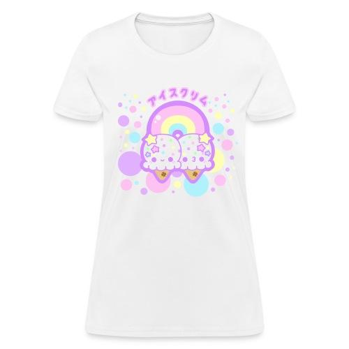 Rainbow Ice Cream Clouds  - Women's T-Shirt