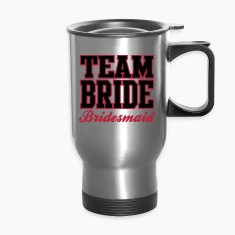 TEAM BRIDE: Bridesmaid Bottles & Mugs