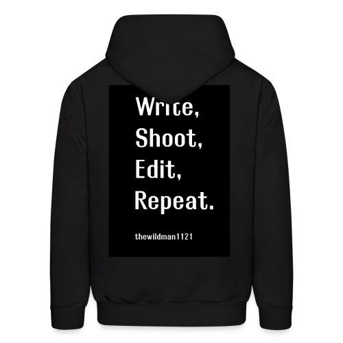 Write,Shoot, Edit, Repeat - Men's Hoodie