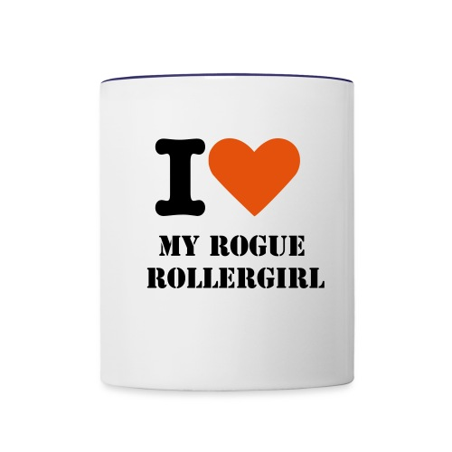 I love my rogue rollergirl - Contrast Coffee Mug