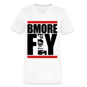 BMORE FLY Vneck - Men's V-Neck T-Shirt by Canvas