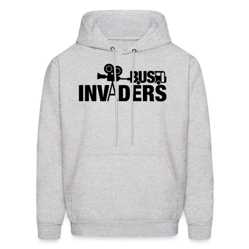 Bus Invaders Men's Hoodie - Black Design - Men's Hoodie