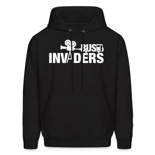 Bus Invaders Men's Hoodie - White Design - Men's Hoodie