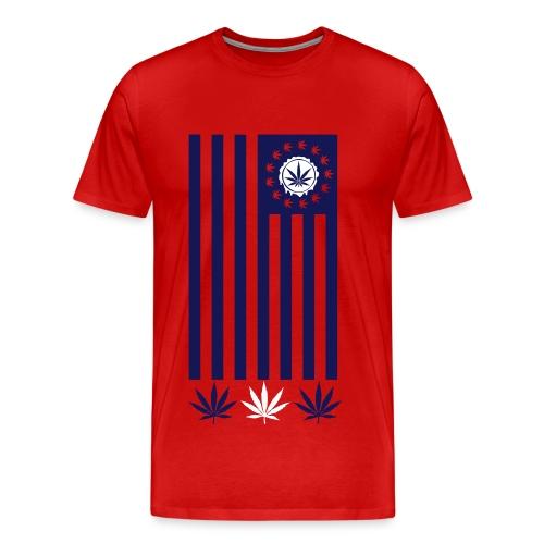Weed Flag Shirt - Men's Premium T-Shirt