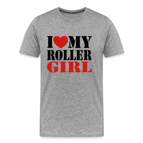 I love my rollergirl - Men's Premium T-Shirt