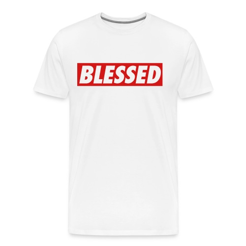 TRUU NATION MENS BLESSED T -SHIRT - Men's Premium T-Shirt