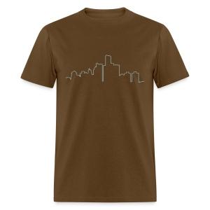 Detroit Skyline - Men's T-Shirt