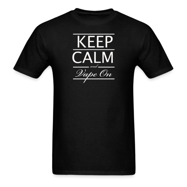 Keep Calm and Vape On - Wht Logo