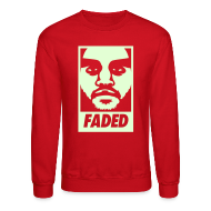 Long Sleeve Shirts ~ Men's Crewneck Sweatshirt ~ Faded Obey [Glow in the Dark]