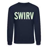 Long Sleeve Shirts ~ Men's Crewneck Sweatshirt ~ Swirv [Glow in the Dark]