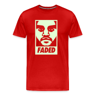 T-Shirts ~ Men's Premium T-Shirt ~ Faded Obey [Glow in the Dark]