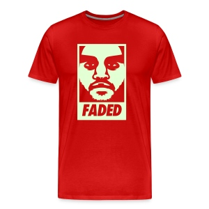 Faded Obey [Glow in the Dark] - Men's Premium T-Shirt