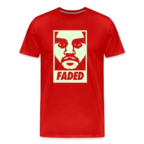 Faded Obey [Glow in the Dark] - Men's Premium T-Shirt