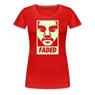 Women's T-Shirts ~ Women's Premium T-Shirt ~ Faded Obey [Glow in the Dark]