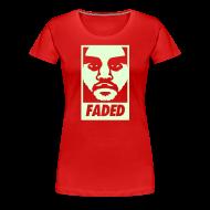Women's T-Shirts ~ Women's Premium T-Shirt ~ Faded Obey [Glow in the Dark]