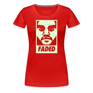 Faded Obey [Glow in the Dark] - Women's Premium T-Shirt
