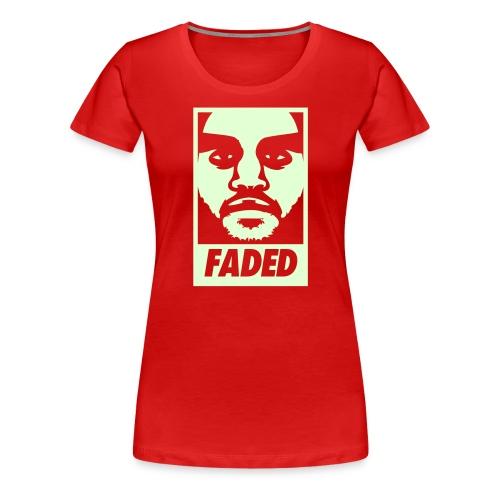 Faded Obey [Glow in the Dark] - Women's Premium T-Shirt
