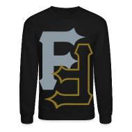 Long Sleeve Shirts ~ Men's Crewneck Sweatshirt ~ F & F [metallic silver & gold]