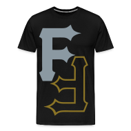 T-Shirts ~ Men's Premium T-Shirt ~ F & F [metallic silver & gold]