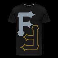 T-Shirts ~ Men's Premium T-Shirt ~ F & F [metallic silver & gold]