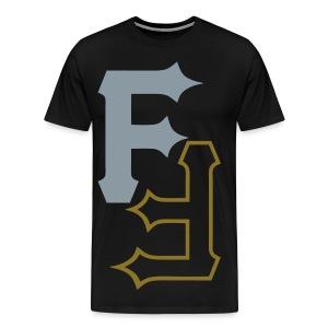 F & F [metallic silver & gold] - Men's Premium T-Shirt