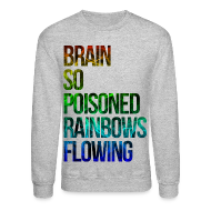 Long Sleeve Shirts ~ Men's Crewneck Sweatshirt ~ Brain So Poisoned