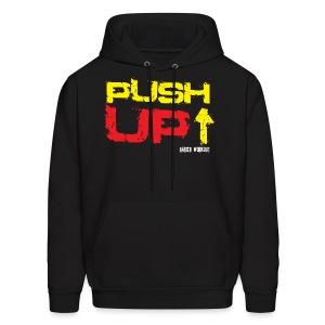 Push-Up hoodie black - Men's Hoodie