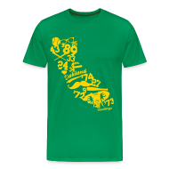 T-Shirts ~ Men's Premium T-Shirt ~ We Run California (Kelly Green) - Men's