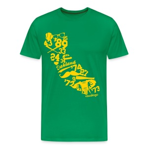 We Run California (Kelly Green) - Men's - Men's Premium T-Shirt