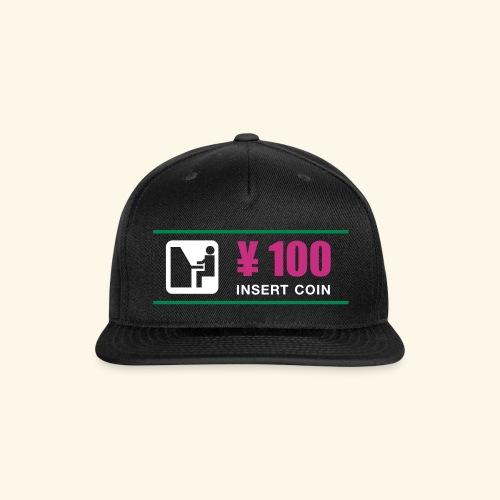 ¥ 100 - Snap-back Baseball Cap