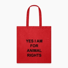 yes I am for animal rights Bags & backpacks