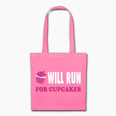 Will Run For Cupcakes - Workout Inspiration Bags & backpacks