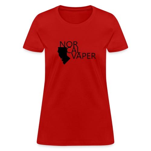 NorCal Vaper - Blk Logo - Women's T-Shirt