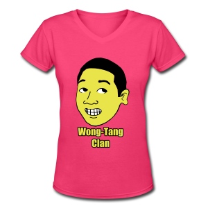 Women's Fuzzy Haired #Wong - Women's V-Neck T-Shirt