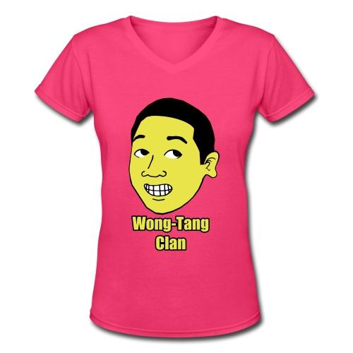 Women's Fuzzy Haired #Wong Shirt - Women's V-Neck T-Shirt