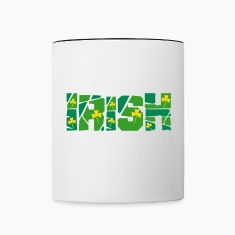 Irish Cracked Text Bottles & Mugs