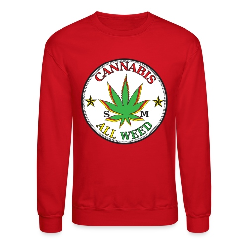 Cannabis All Star Crew Neck - Crewneck Sweatshirt