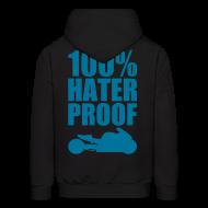 Hoodies ~ Men's Hoodie ~ S&S HATER PROOF PETROL