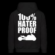 Hoodies ~ Men's Hoodie ~ S&S HATER PROOF WHITE