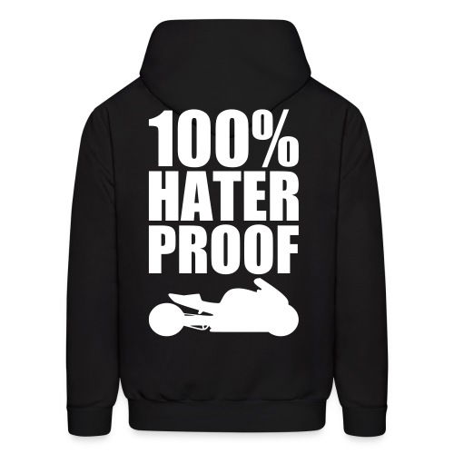 S&S HATER PROOF WHITE - Men's Hoodie