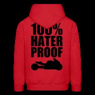 Hoodies ~ Men's Hooded Sweatshirt ~ S&S HATER PROOF BLACK