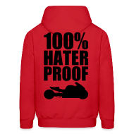 Hoodies ~ Men's Hoodie ~ S&S HATER PROOF BLACK